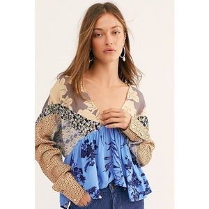 FREE PEOPLE Blouse Top Small S NEW NWT 7A01